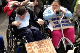 Video della manifestazione al CDD di Cusano Milanino per garantire utenti ed educatori