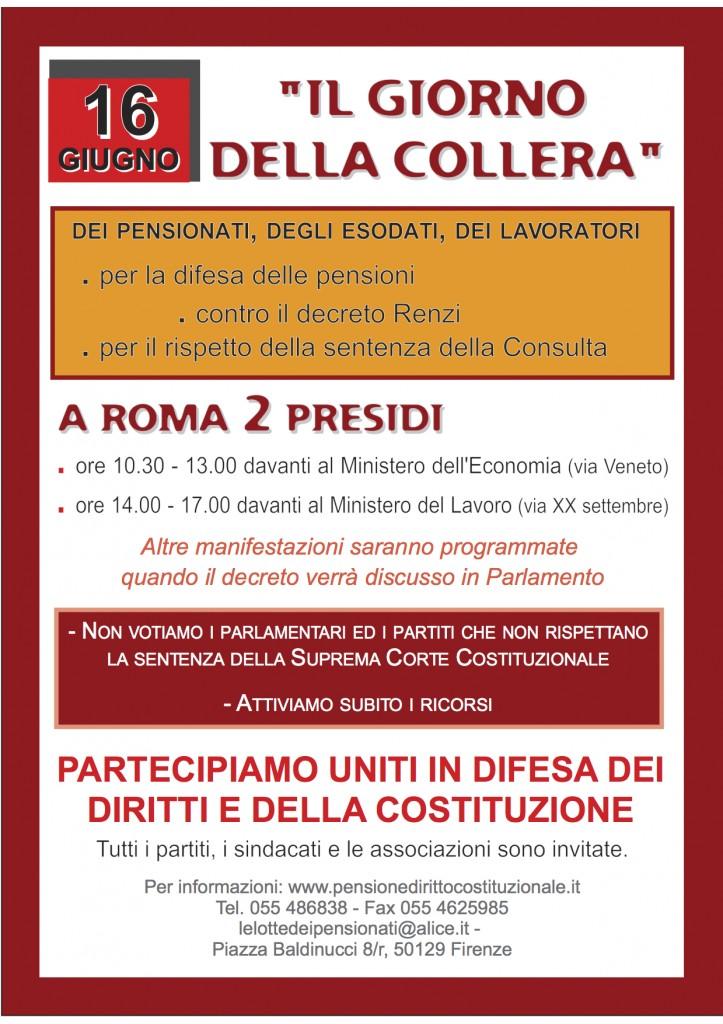 Manifesto IL GIORNO DELLA COLLERA