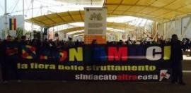 Solidarietà ai compagni di Il Sindacato è un'Altra Cosa fermati all'Expo per uno striscione di protesta