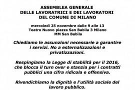 Comune di Milano: lavoratori, sindacati e RSU rifiutano l'accordo sulle politiche occupazionali