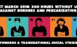 1° MARZO 2016: giornata contro i confini e le precarizzazioni. Milano, ore 18, Piazza Duca D'Aosta