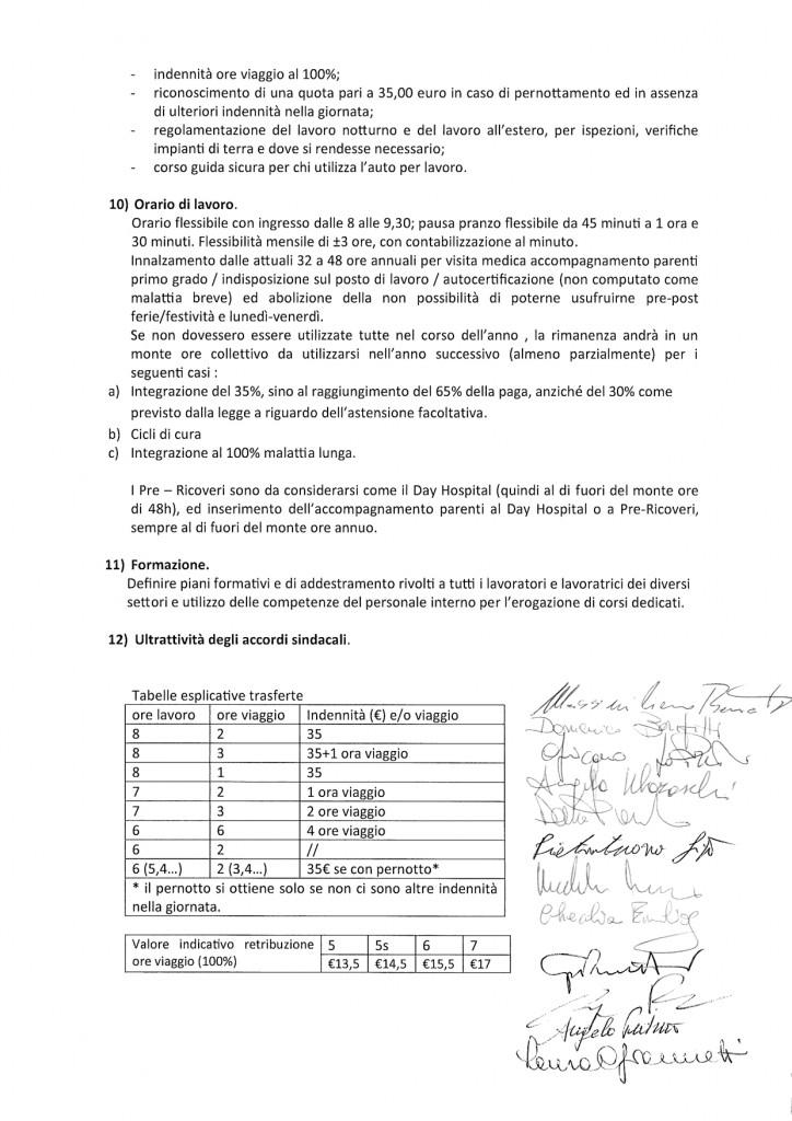 IMQ Piattaforma contratto integrativo IMQ firmata RSU-OOSS