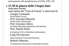 CONUP: il 19 maggio a Roma per fermare il massacro delle pensioni e della Costituzione