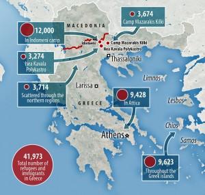 grafico campi profughi Grecia