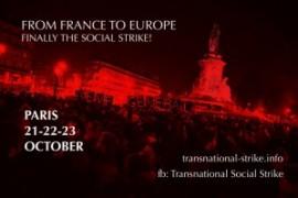 Appello per il meeting dello sciopero sociale transnazionale. Parigi, 21-23 Ottobre 2016