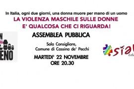 La violenza sulle donne ci riguarda: assemblea pubblica il 22 novembre a Cassina de' Pecchi