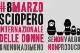 """Piattaforma """"8 punti per l'8 marzo"""": Non un'ora meno di sciopero!"""