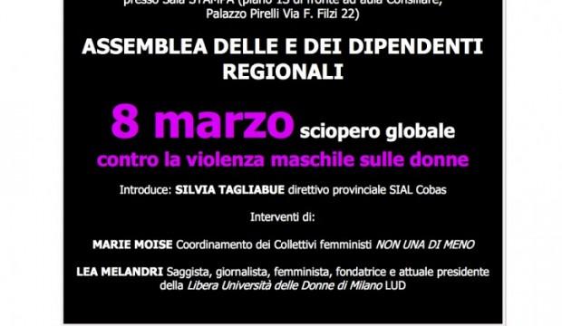 Verso #LottoMarzo: assemblea lavoratrici/tori in Regione Lombardia il 23 febbraio