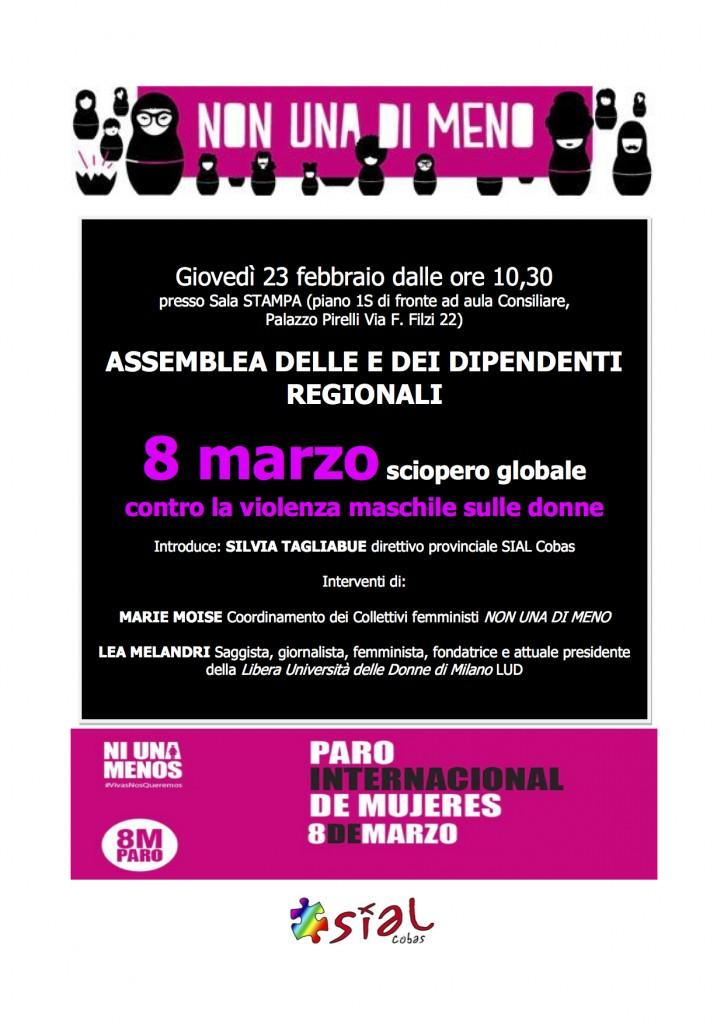 volantino assemblea regione 23 febbraio