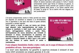 Sial Cobas: l'8 marzo sarà sciopero globale delle donne!