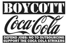 Solidarietà ai lavoratori ricattati e licenziati da Coca Cola di Nogara