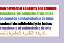Rete Sindacale Internazionale: 1° Maggio giornata internazionale di lotta!