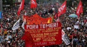 Brasile: 35 milioni di lavoratori in sciopero generale bloccano il paese