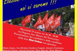 Elezioni RSU Comune di Milano: incontro coi candidati della lista Sial-Slai Cobas
