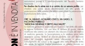 7 aprile 2018: iniziative a Milano per la giornata mondiale per il diritto alla salute