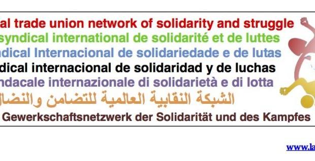 Rete Sindacale Internazionale di Solidarietà e di Lotta: uniamo le lotte contro la repressione poliziesca del governo Macron!
