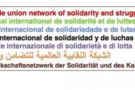 Rete Sindacale Internazionale: sostegno alla mobilitazione sociale in Spagna