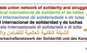 Rete Sindacale Internazionale: 1° maggio, una giornata internazionale di lotta dei lavoratori e delle lavoratrici