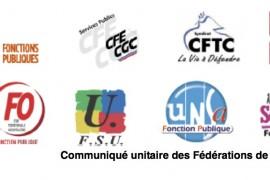 Francia: comunicato intersindacale per lo sciopero nel Pubblico Impiego il 22 maggio