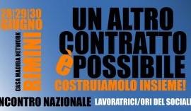 28/29/30 giugno Rimini: Incontro Nazionale Lavoratrici e Lavoratori del Sociale. Un altro contratto è possibile!
