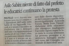 Asilo Sabin: niente di fatto dal prefetto, le educatrici continuano la protesta