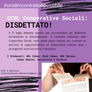 Rinnovo CCNL Coop.Sociali: un altro contratto è possibile, mandata la disdetta del contratto!