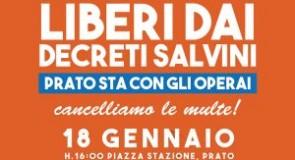 Manifestazione a Prato per la libertà di sciopero!