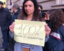 La cassa integrazione non basterà! E chi non ce l'ha?  Reddito di quarantena al 100%.