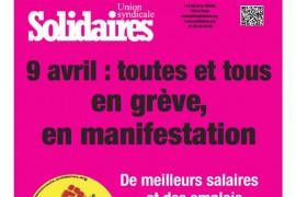 Solidaires in sciopero il 9 aprile
