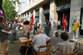 Pensioni: ridateci tutto! Presidio a Milano davanti alla sede dell'INPS