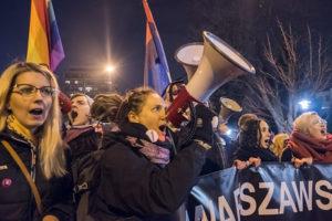 Grzegorz Żukowski Segui women's day protest