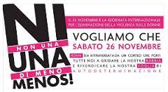 26 novembre: tutte insieme contro la violenza maschile sulle donne