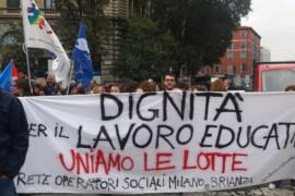26 ottobre 2018: sciopero degli educatori/trici della cooperativa sociale Aeris di Vimercate