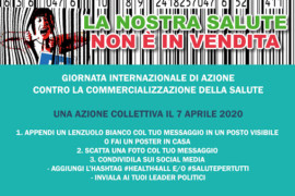 Our health is not for sale/ La nostra salute non è in vendita