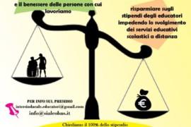 11 giugno presidio regionale degli operatori/trici sociali davanti ad ANCI Lombardia