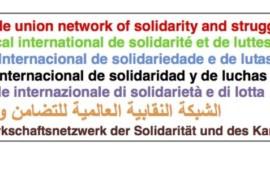 Rete Sindacale Internazionale: mobilitiamoci contro la restrizione delle libertà, in difesa della vita e dei diritti della classe lavoratrice!