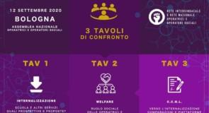 Assemblea Nazionale operatrici/tori sociali: Bologna 12 settembre