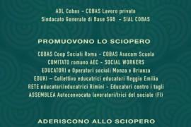 Materiali scaricabili dello Sciopero nazionale delle operatrici/tori sociali del 13 novembre 2020
