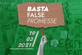 Fridays For Future: il 19 marzo 2021 mobilitazione. #BASTAFALSEPROMESSE
