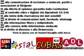 No al Codice disciplinare bavaglio: presidio giovedì 29 aprile dalle 16.30 Palazzo Marino