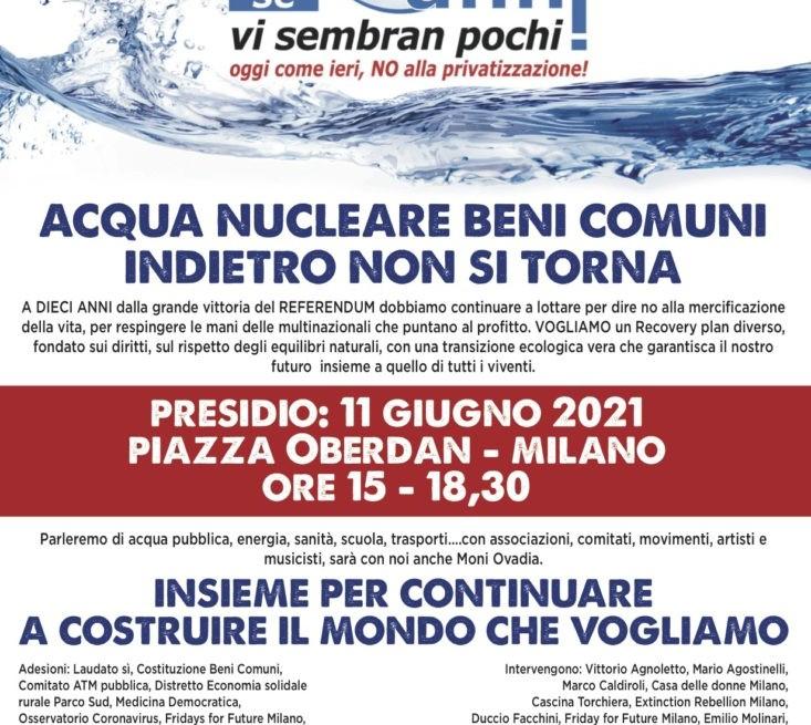A dieci anni dal referendum su acqua, nucleare e beni comuni: indietro non si torna!